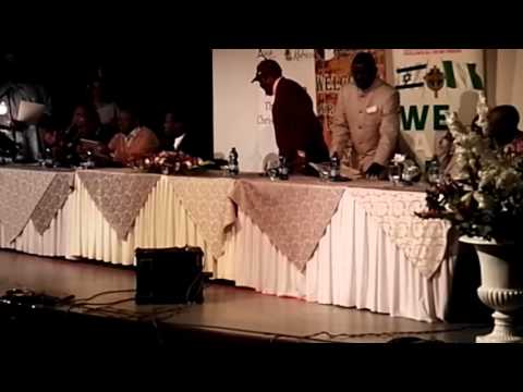 Executive Secretary, NCPC, Mr. John Kennedy Opara of Nigeria gives the senators the JP crosses