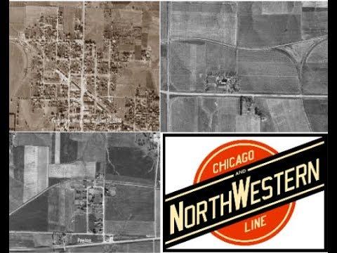 """Dodgeville to Verona, Wisconsin 1937-1940 Chicago & North Western Railway """"Ridgerunner Line"""""""