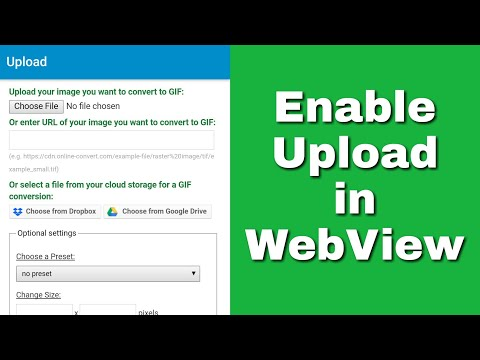 How to enable upload from webview in Sketchware?