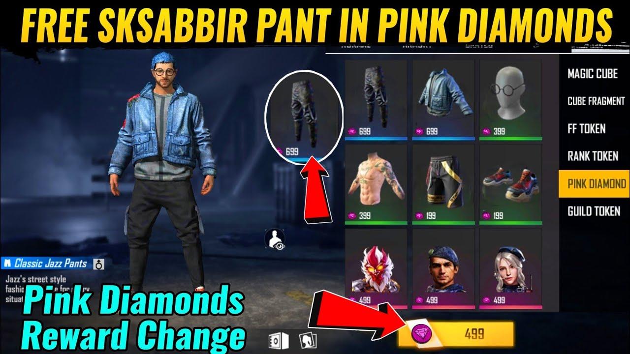 Pink Diamonds New Reward In Free Fire 2020 New Upcoming Reward In Pink Diamonds New Event 2020 Youtube