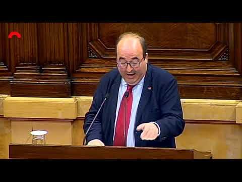 Miquel Iceta fa balanç de l'any de govern de Quim Torra