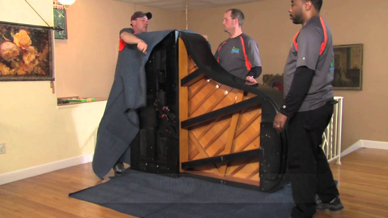 How to Move a Grand Piano in Less than 3 minutes - YouTube