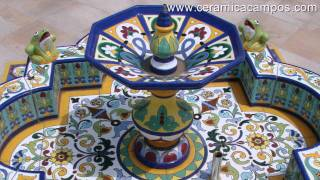 Fuentes decorativas de cerámica