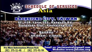 Please Watch!!! JMCIM Central Live Streaming of SUNDAY GENERAL WORSHIP | 0CTOBER 6, 2019.