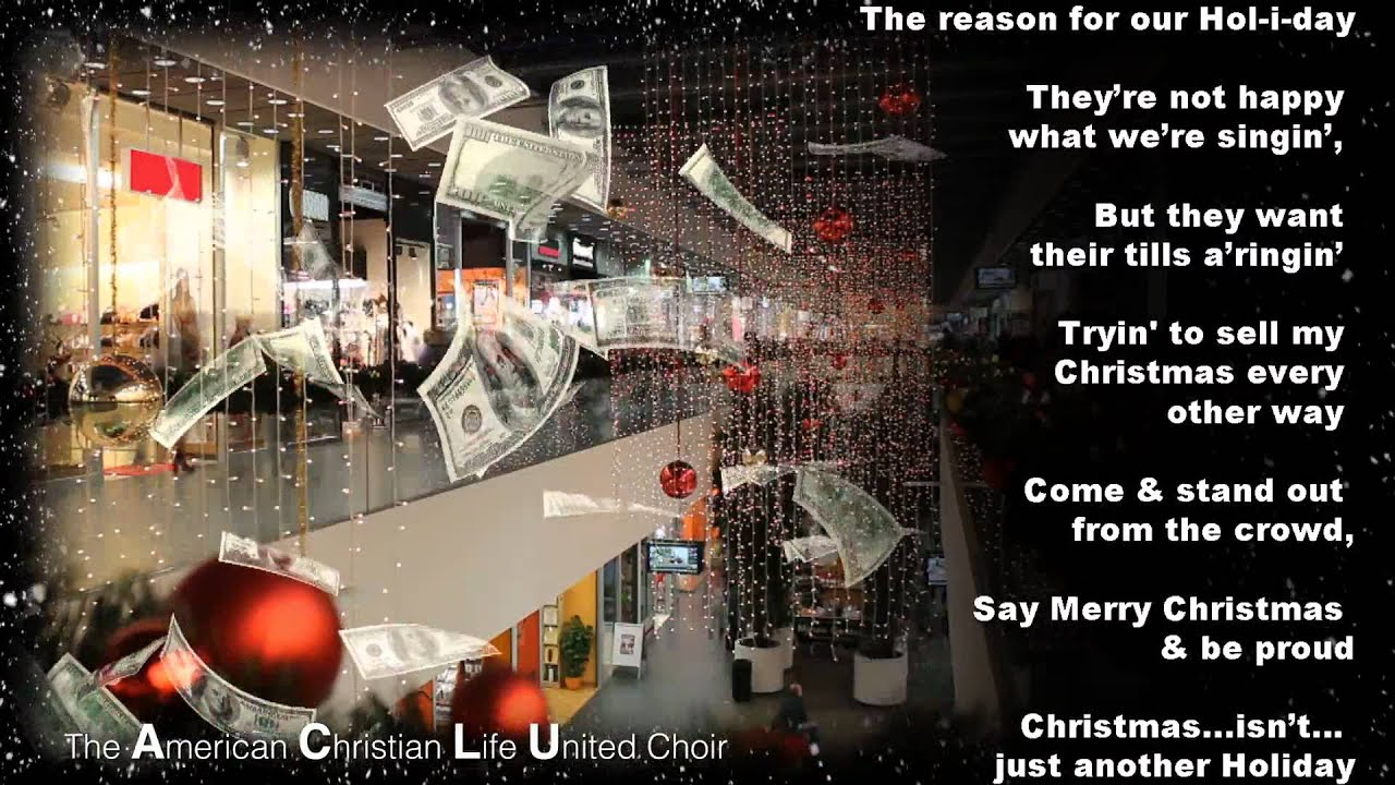 say merry christmas vocal carrie rinderer and the american christian life united aclu choir