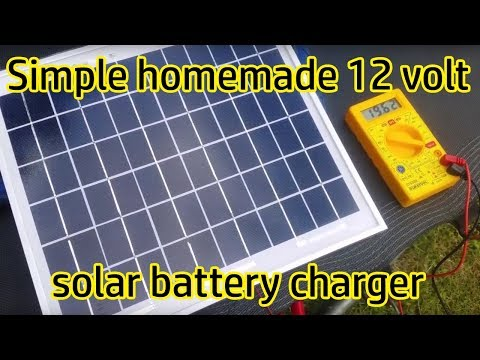 How to make a 12v Solar charger system for Caravan, Camping or shed with USB charging