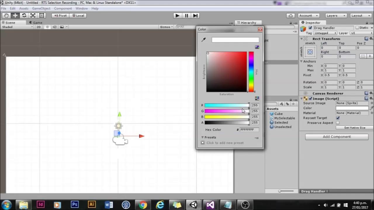 Unity UI: Multi selection and drag box selection