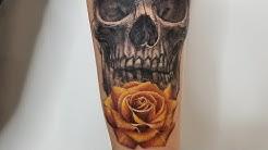 Skull and Rose Tattoo by Cris Gherman aka NinjaCG