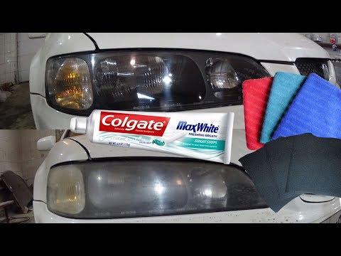 Как отполировать фары в домашних условиях без машинки зубной пастой
