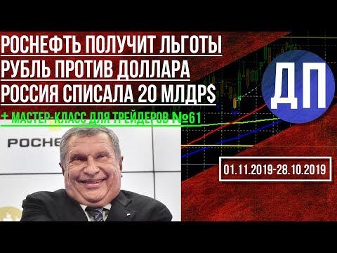 Роснефть получит налоговые льготы. Россия прощает Африке 20млрд.долл. Курс рубля после ставки