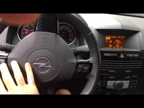 Opel Astra H  не заходит в настройки даты...