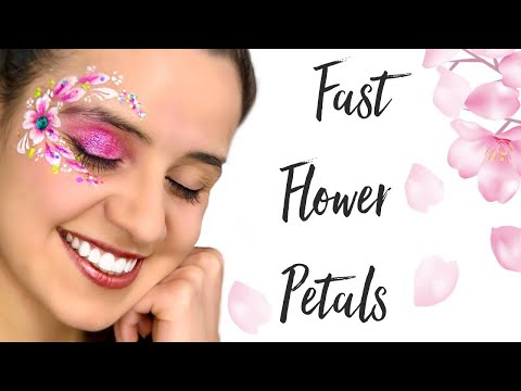 1 MIN. FAST FLOWER PETALS *with demo of DIFFERENT brush brands***