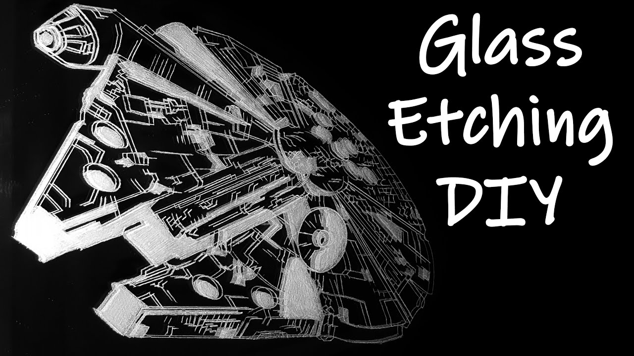 Mirror And Glass Etching With Dremel And Diamond Engraving Bits Diy Star Wars Scene Youtube