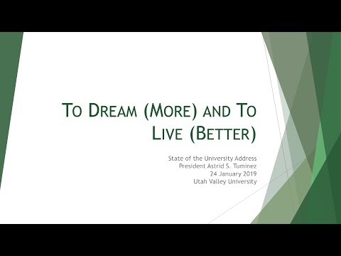 UVU: State of the University - January 24, 2019