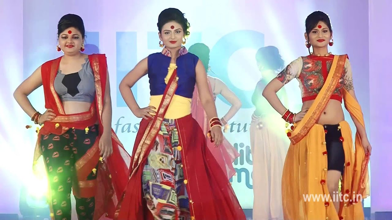 Iitc Fashion Show 2014 Indo Western Drapes Sequence Youtube