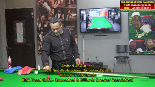 Gambar cover Snooker Coaching/Traing! Cue Care by Arshad Qureshi (Professional Snooker Coach)