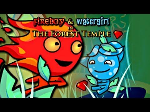 Красный и Синий человечки (Fireboy Watergirl forest temple) - Мультик игра для детей