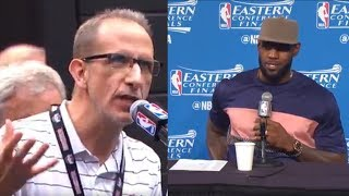 LeBron James RIPS into Reporter After Losing to Celtics WITHOUT Isaiah Thomas