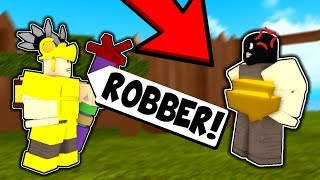 I Caught A ROBBER Break Into My Base... I Made Him Do THIS! (Roblox Booga Booga)