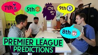 HIGHLY CONTROVERSIAL 4 WAY PREMIER LEAGUE PREDICTIONS!!
