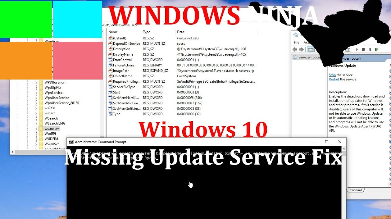 Windows 10 - Missing Update Service Solution