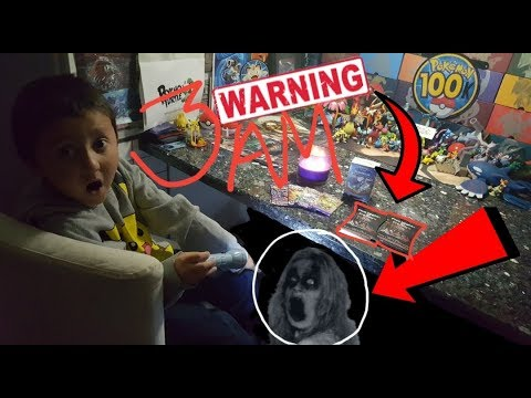 3 AM CHALLENGE! WARNING!! Opening POKEMON Cards at 3am!! The SCARIEST Video Ever! This is 100% REAL!