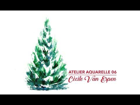 Atelier Aquarelle 06 : Sapin de Noël