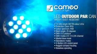 Cameo Light OUTDOOR PAR CAN - 12 x 3 W TRI Colour LED OUTDOOR PAR CAN IP65