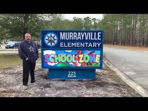 McLamb LED Signs - Murrayville Elementary School