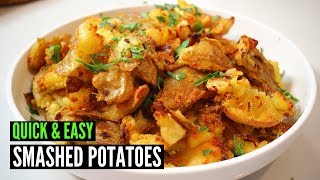 Super Crispy Smashed Potatoes | Easy Snack
