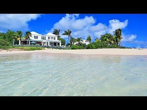 The MOST Relaxing **Beachfront** Anguilla Villa Rental: Beach Escape Villa