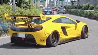 【大黒PA】スーパーカー加速サウンド/Supercars sound in Japan. LibertyWalk 650S, Aventador, SLS, 460GT and more‼️