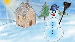 Schneemannlied - das Original Kinderlied - Wie sieht er aus, der Schneemann vor dem Haus?