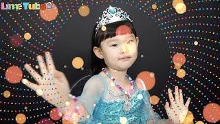 라임의 겨울왕국 엘사 목걸이와 팔찌 예쁜악세사리 만들기 장난감 놀이 LimeTube & Toy 라임튜브