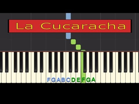 Easy Piano Tutorial: La Cucaracha, Mexican Folk Song with free sheet music