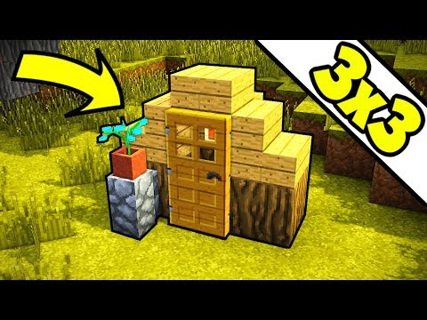 Minecraft 3x3 ULTIMATE Survival House Tutorial (How To Build)