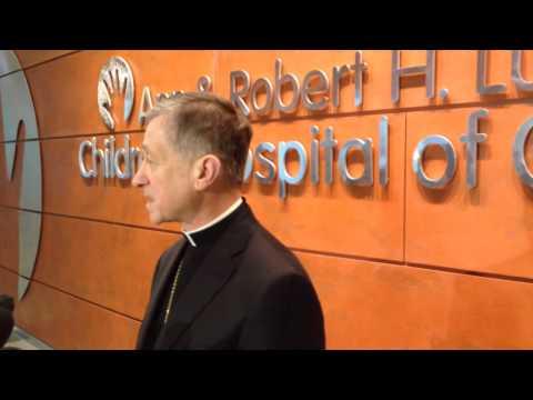 Archbishop Blase J  Cupich at Ann & Robert H  Lurie Children's Hospital of Chicago