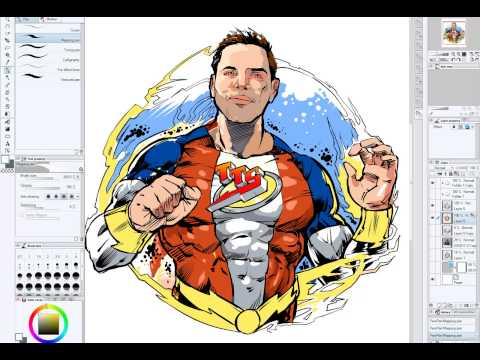 Superhero Transformations: Geoff (Comic Illustration)