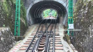 リニューアル初日の男山ケーブル 八幡市→男山山上  KEIHAN Otokoyama Cable  Iwasimizu Hachimangu Railway