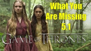 Game of Thrones: What You Are Missing 5.1