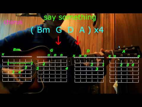 say something  christina aguilera agreat big world guitar chords