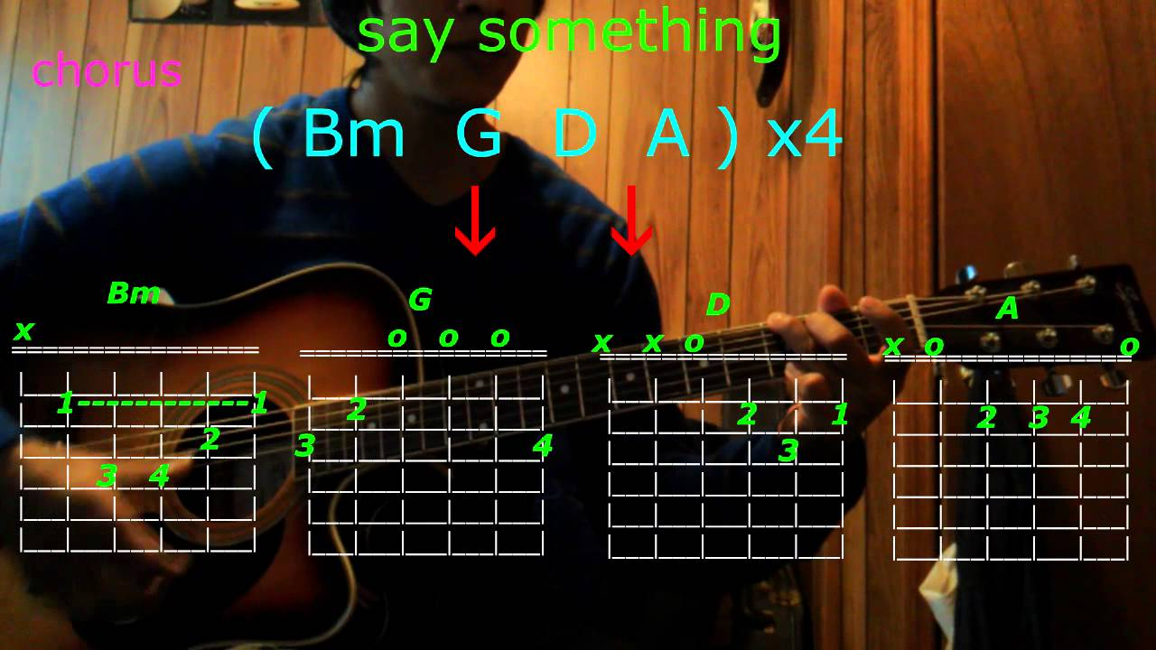 Say Something Christina Aguilera Agreat Big World Guitar Chords