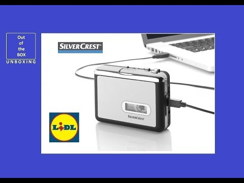 SilverCrest Cassette Digitiser SKD 1000 A3 UNBOXING (Lidl 32 Ohms 94 dB(A) 80 mV)