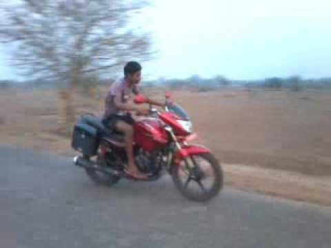 Hero Glamour Stunt By Ashish Kumar Naik.