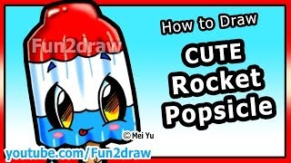 How to Draw Easy Things - Rocket Popsicle - Summer Treats & Food Fun2draw drawing channel