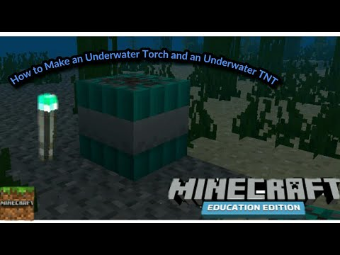 Minecraft Education Edition Tutorial 3 How To Make Underwater Torch And Underwater Tnt Youtube