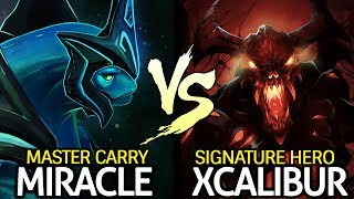 MIRACLE Master Morphling VS XCALIBUR Shadow Fiend Signature Heroes 7.24 Dota 2
