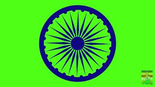 Green Screen Ashoka Chakra Animated
