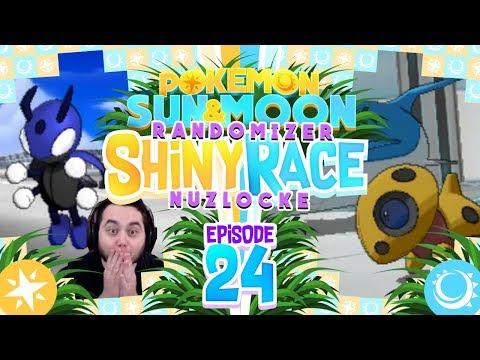 INSANE SHINIES AGAIN!! Pokemon Sun and Moon Randomizer Shiny Race Nuzlocke w/ MandJTV! Ep 24