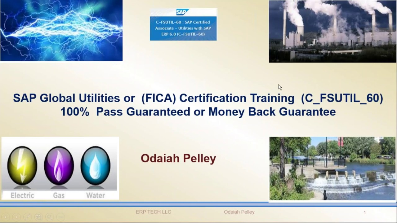 Sap Isu Utilities Or Fica Certification C Fsutil 60 Youtube